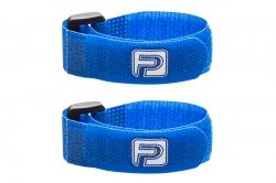 Sťahovacie pásky so suchým zipsom, dĺžka 20 cm, modré (2 ks)