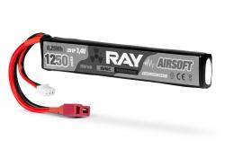 RAY Airsoft LiPo - 2S 1250mAh 7,4V 25/50C, Dean-T Plug