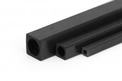 Uhlíkový hranol dutý s kulatým otvorem 5x5x4 mm