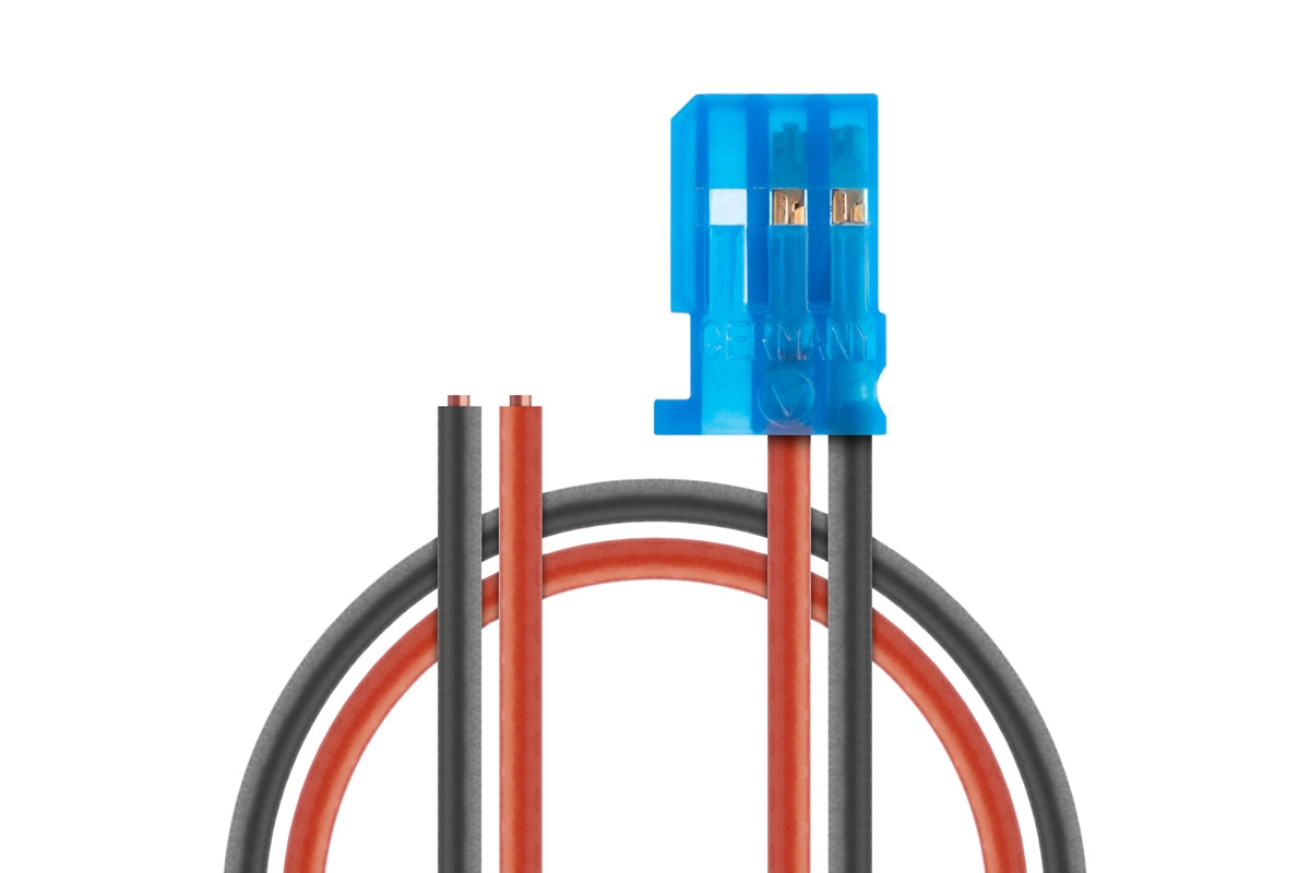 Napájecí Rx kabel 200mm, FUTABA 0,50qmm silikonkabel, 1 ks.