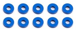 Bulkhead podložky, 7.8x2.0mm, modré alu, 10 ks.