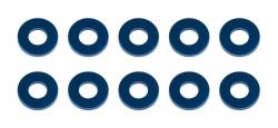 B6.2: Bulkhead podložky 7,8×3,5×1,0 mm, modré, hliníkové (10 ks)