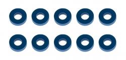B6.2: Bulkhead podložky 7,8×3,5×2,0 mm modré, hliníkové (10 ks)
