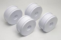 RC8 83mm 1/8 sada disků, bílé (4ks.)