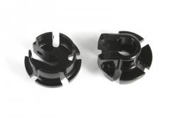 Černé hliníkové talířky tlumičů 12mm (2 ks.)