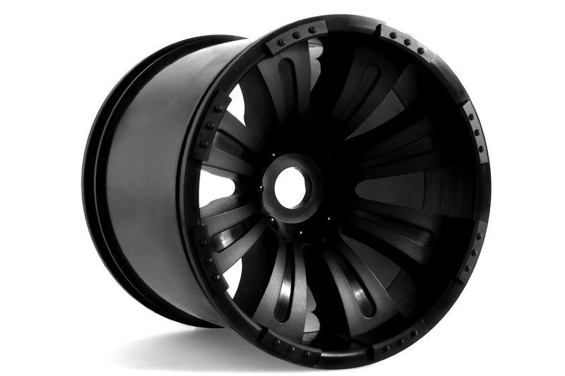 Náhled produktu - 8-paprskové Oversize disky černé (2 ks)