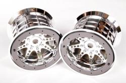 Oversize Beadlock 8-paprskové disky chrom (2 ks)