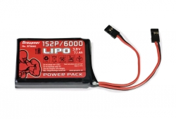 Vysielačový pack, LiPo 1S2P/6000 3,8V TX, 27Wh
