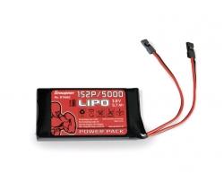 Vysielačový pack, LiPo 1S2P/5000 3,8V TX, 21Wh