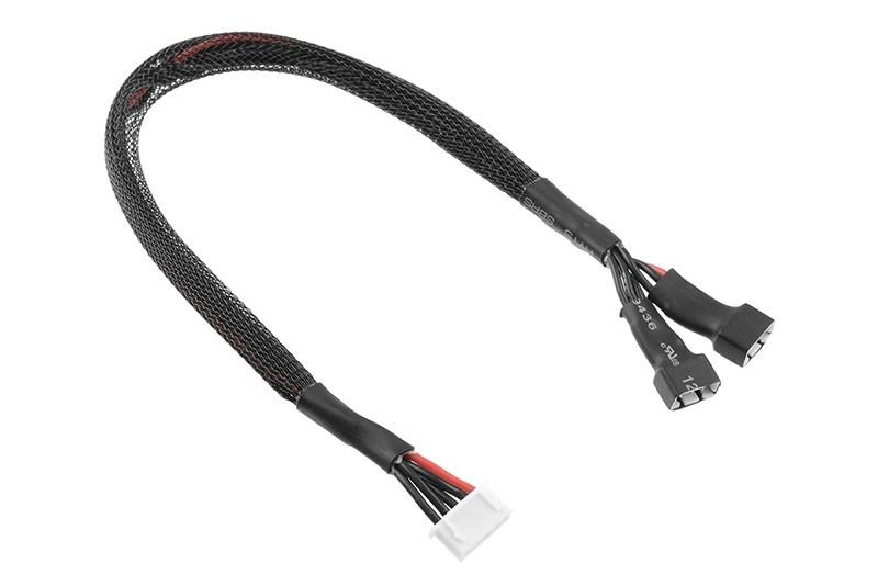 Balanční prodlužovák - 2x2S XH konekt. - nabíj. 4S XH zástrčka - silik. kabel 22AWG - 30cm