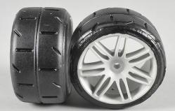 Zadní gumy typ A (soft směs) nalepené na bílých discích