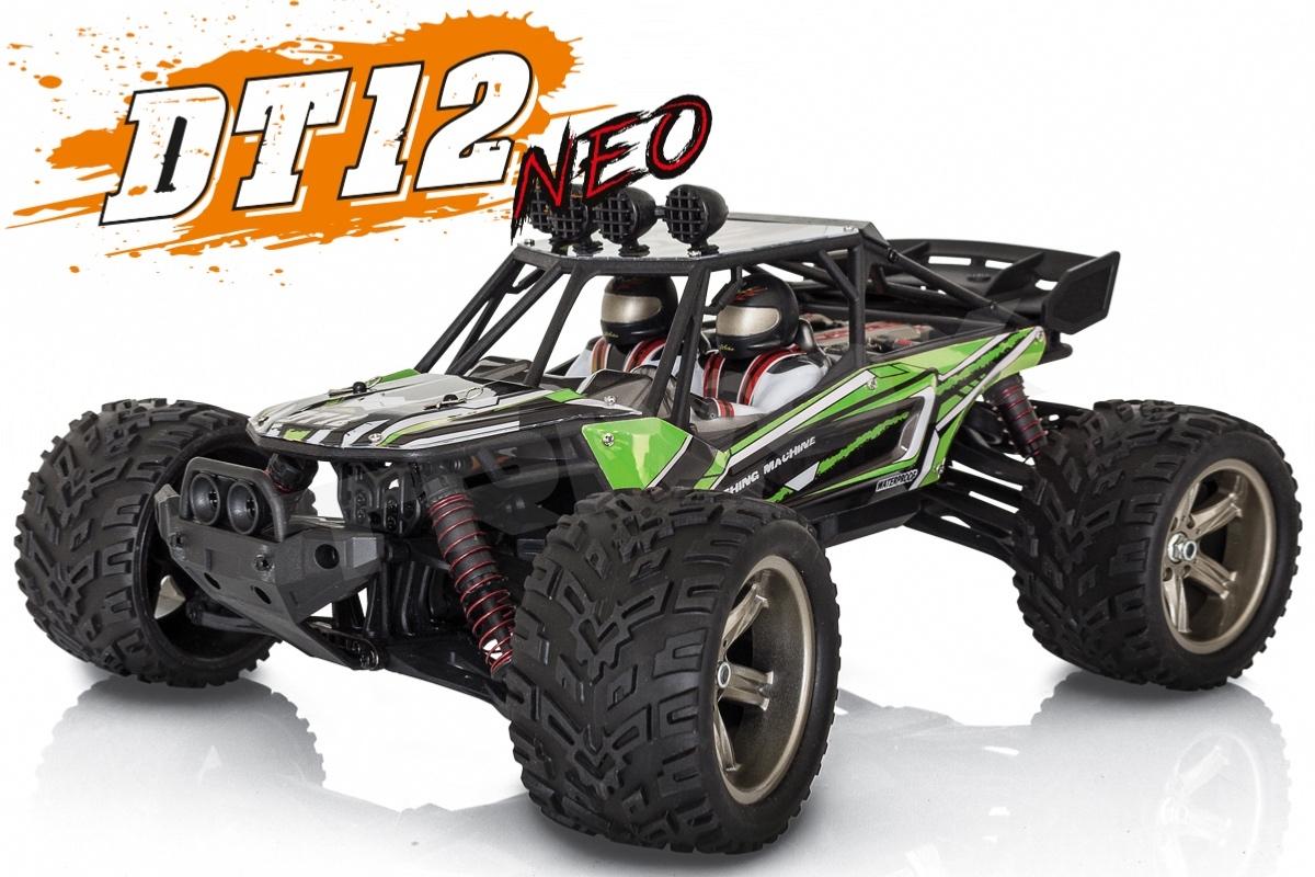 DT-12 NEO elektro Offroad písečná BUGGY - 2.4GHz RTR - zelený (2wd)