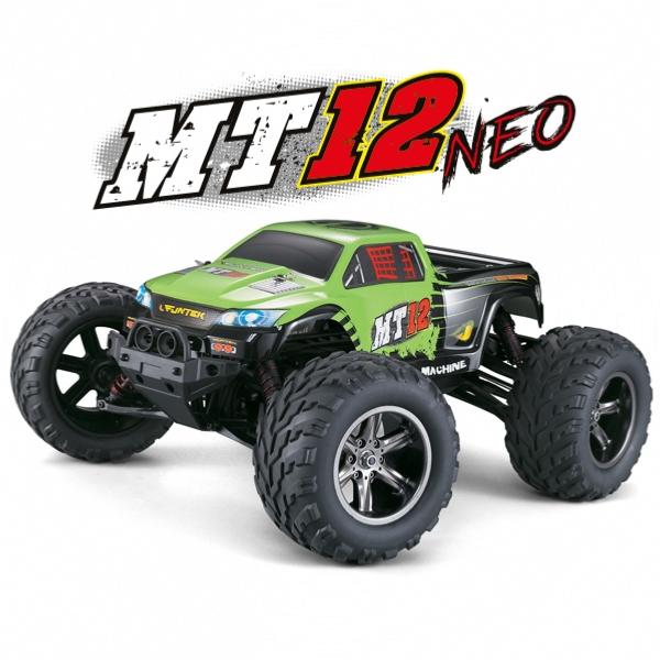 MT-12 NEO elektro Offroad Monster truck - 2.4GHz RTR - zelený (2wd)