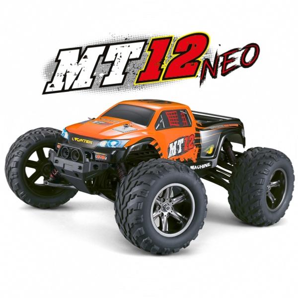 MT-12 NEO elektro Offroad Monster truck - 2.4GHz RTR - oranžový (2wd)