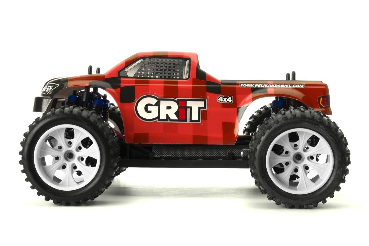 HiMOTO Monster EMXT GRIT 1:10 elektro RTR set 2,4 GHz (červené kostky)