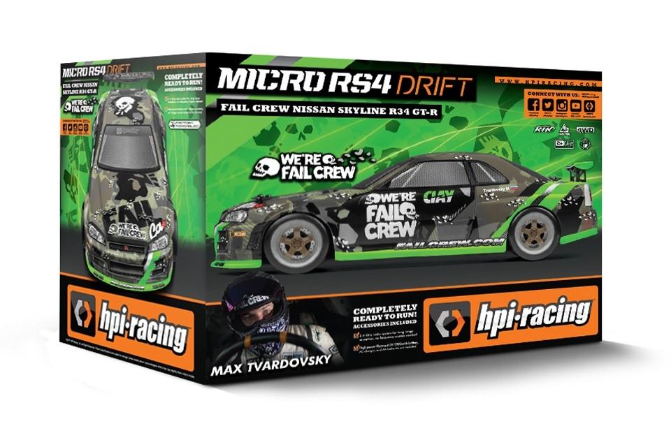 Micro RS4 Drift RTR Nissan Skyline GT-R - Fail Crew