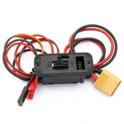 MAXI vypínač s nabíjecí zdířkou/kabelem - JR/GRAUPNER/HITEC na XT60