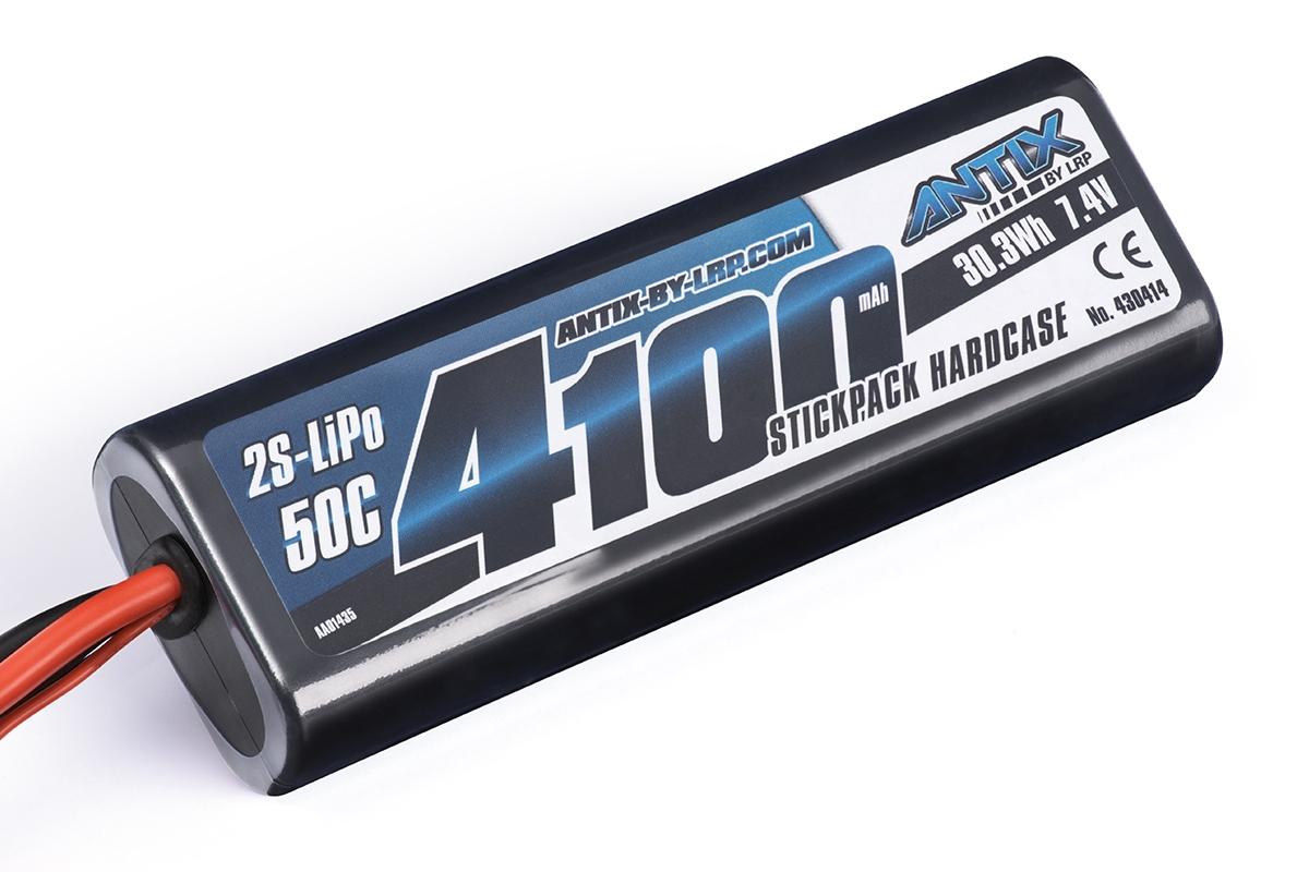 Náhled produktu - ANTIX by LRP – LiPo akumulátor 2S 4100mAh 7,4V Tamiya Plug HardCase (50C)