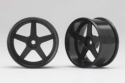 Náhled produktu - Racing Performer Driftovací disky 5 paprsků 01 (6 mm Offset / Černé / 2 ks)