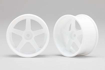 Náhled produktu - Racing Performer Driftovací disky 5 paprsků 01 (6 mm Offset / Bílé / 2 ks)