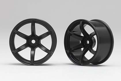 Náhled produktu - Racing Performer Driftovací disky 6 paprsků 02 (6 mm Offset / Černé / 2 ks)