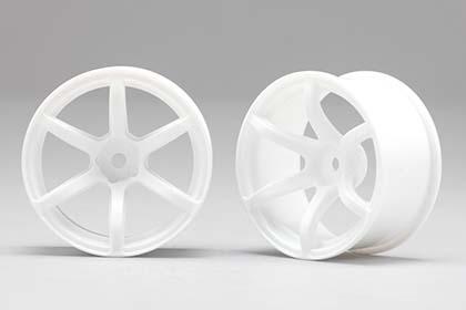 Náhled produktu - Racing Performer Driftovací disky 6 paprsků 02 (6 mm Offset / Bílé / 2 ks)