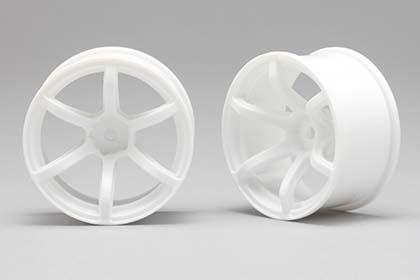 Náhled produktu - Racing Performer Driftovací disky 6 paprsků 02 (8 mm Offset / Bílé / 2 ks)