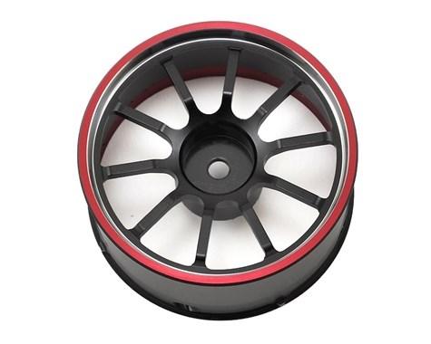 Náhled produktu - M12/M12S: Hlinikový volant (černo-červený)