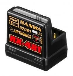 RX-481 přijímač 2.4GHz FH3,FH4, 4-kanál, SSR (telemetrický)