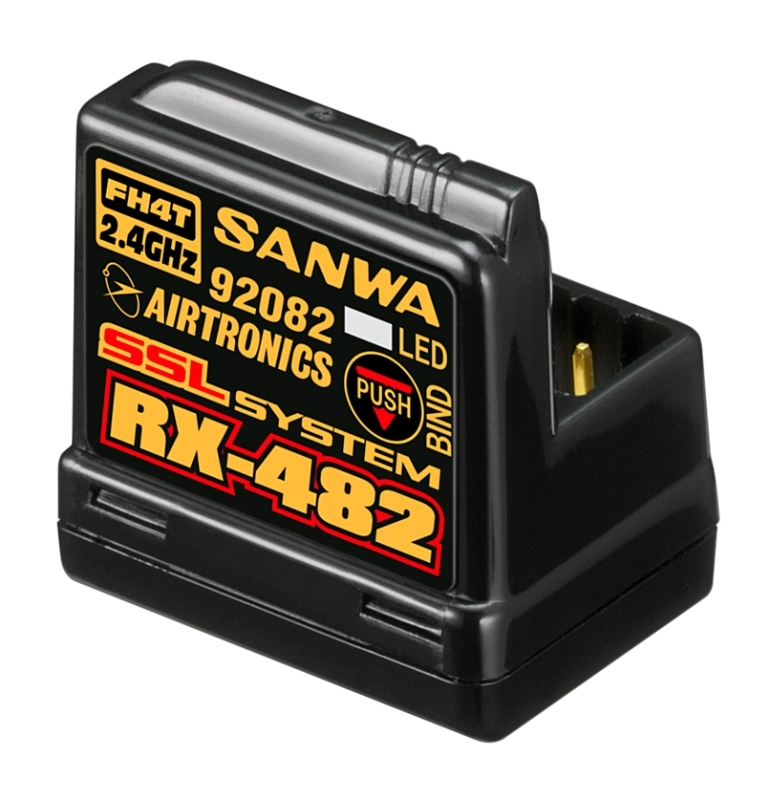 View Product - RX-482 2.4GHz FH3, FH4 & SSR 4Ch Telemetry Receiver