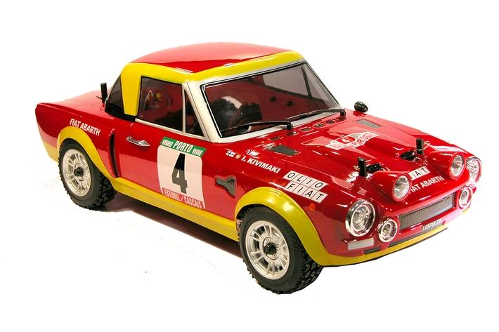 Karoserie lakovaná, Fiat 124 Abarth, nálepky, příslušenství (200mm)