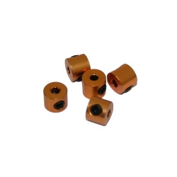 2mm hliníkovéstavěcí kroužky, zlaté (5 ks)