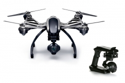YUNEEC Q500 4K TYPHOON Drone with C-GO3-4K Camera RTF with CGO, SteadyGrip and Trolly Case
